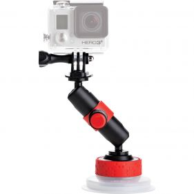 JOBY JB1330 SUCTION CUP & LOCKING ARM (BLK/RED)