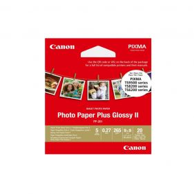 Square Photo Paper Plus Glossy II 3.5x3.5 20 Sheets ( PP-201 )