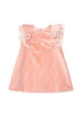 BFB337 ACZY : BABY GIRL DRESS : FENDI